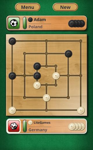 Nine men's Morris - Mills - Free online board game 12 تصوير الشاشة