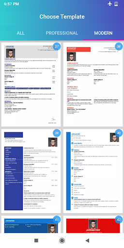 Resume Builder App Free CV maker 2021 - PDF Format screenshot 3