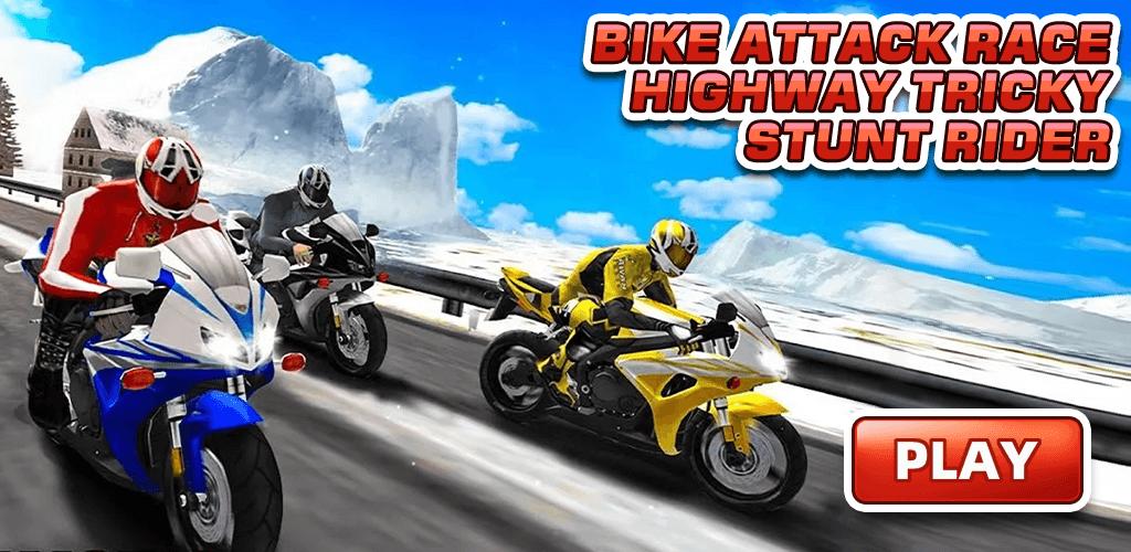 Bike Attack Race Highway Tricky Stunt Rider screenshot 1