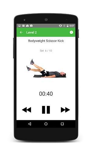 مدرب تمارين عضلات البطن من screenshot 3