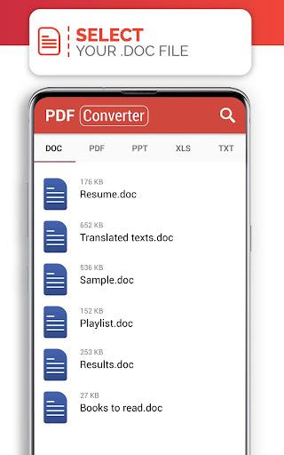 PDF Converter (doc ppt xls txt word png jpg wps) screenshot 1