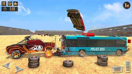 US Police Bus Demolition Derby Crash Stunts 2021 screenshot 4