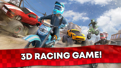 Free Motor Bike Racing - Fast Offroad Driving Game screenshot 11