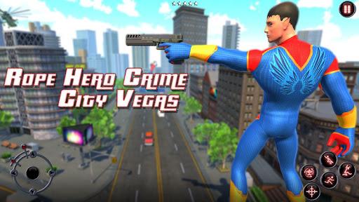 Rope Amazing Hero Crime City Simulator screenshot 2