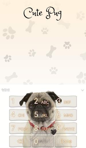 Cute Pug Animated Keyboard + Live Wallpaper screenshot 6