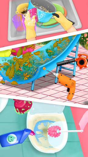 Sweet Baby Girl Cleanup 4 - House, Pool & Stable screenshot 2