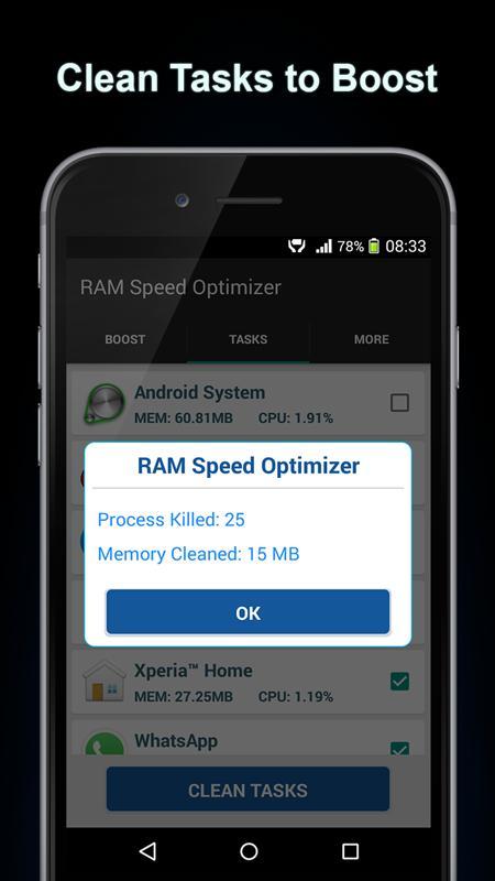 RAM Speed Optimizer screenshot 4