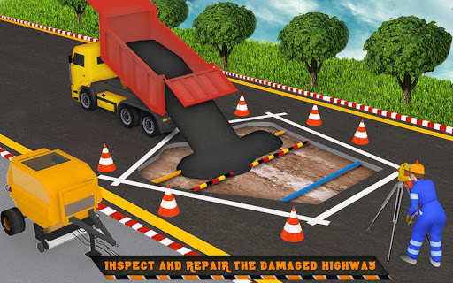 Highway Construction Road Builder 2020- Free Games screenshot 5