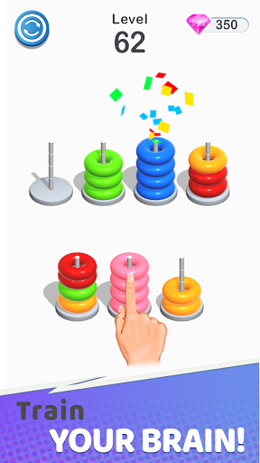 Color Sort Puzzle: Color Hoop Stack Puzzle screenshot 3