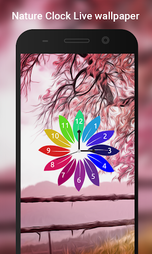 Nature Clock Live wallpaper 6 تصوير الشاشة
