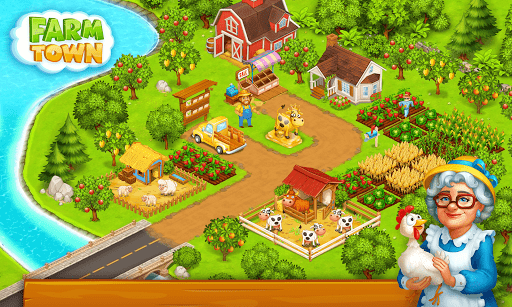 Farm Town: Happy village near small city and town screenshot 3