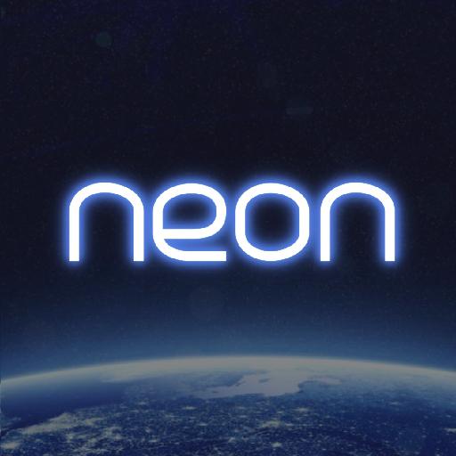 neon cue sports score board icon
