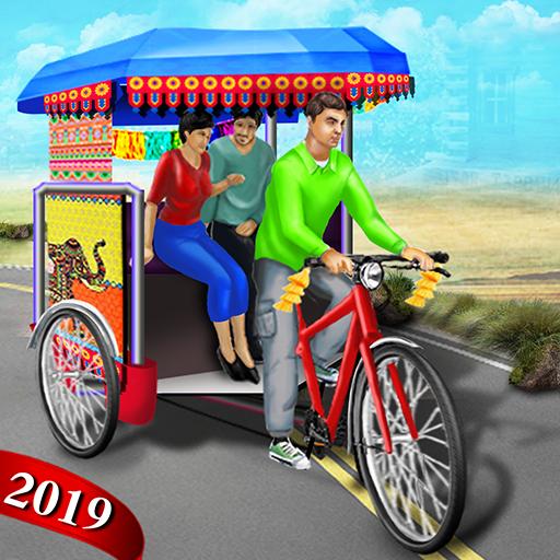 Bicycle Rickshaw Simulator 2019 : Taxi Game icon
