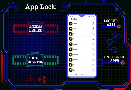 Circuit Launcher 2021 App lock, Hitech Wallpaper 5 تصوير الشاشة