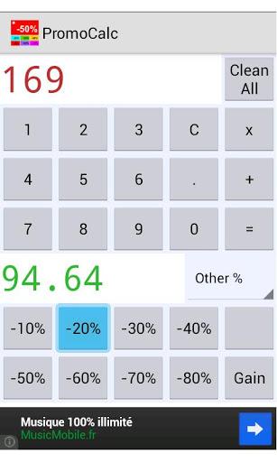 percentage calculator screenshot 2