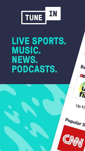 TuneIn Radio: Live News, Sports & Music Stations 1 تصوير الشاشة