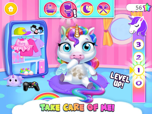 My Baby Unicorn - Virtual Pony Pet Care & Dress Up 13 تصوير الشاشة