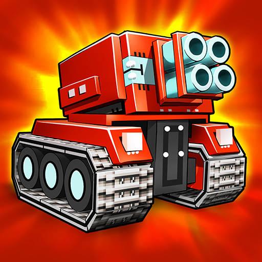Blocky Cars - tank wars & shooting games