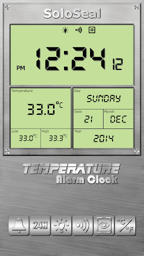 درجة الحرارة منبه 8 تصوير الشاشة