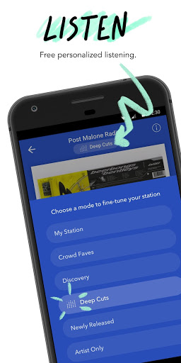 Pandora - Streaming Music, Radio & Podcasts screenshot 1