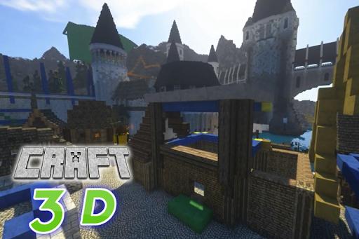 Craft 3D: Block Crafting & Building Game 2 تصوير الشاشة