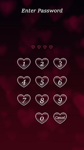 Lock Screen Pin Love Theme screenshot 1