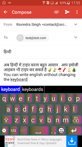 Quick Hindi Keyboard Emoji & Stickers Gifs screenshot 4