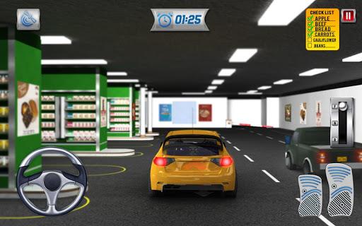 चलाना थ्रू सुपरमार्केट: खरीदारी मॉल कार ड्राइविंग स्क्रीनशॉट 21