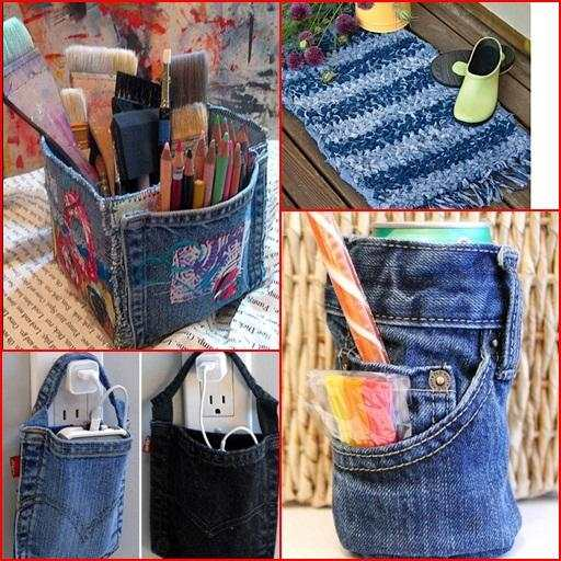 Recycled Jeans Craft Ideas screenshot 5