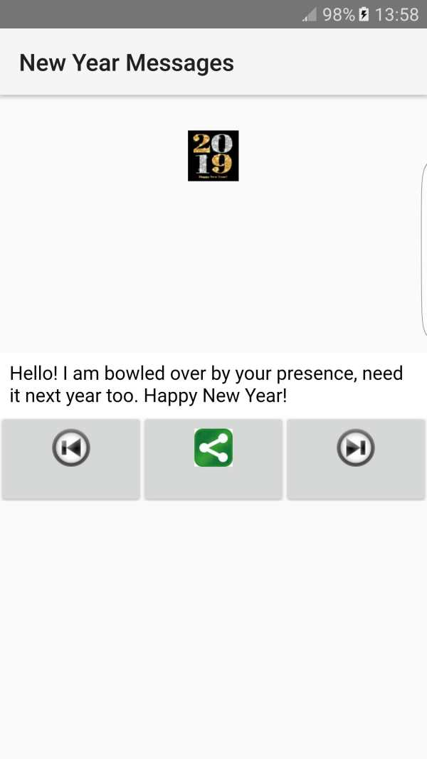 2019 New Year Messages screenshot 2