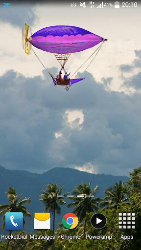 Flying World Live Wallpaper 6 تصوير الشاشة