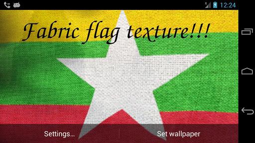 Myanmar Flag Live Wallpaper screenshot 6