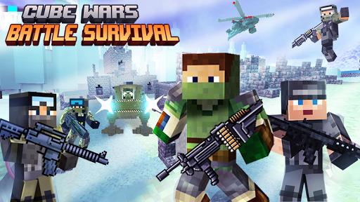 Cube Wars Battle Survival 1 تصوير الشاشة