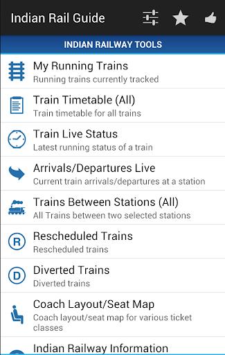 Indian Rail Guide screenshot 1