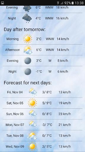 Local weather screenshot 2
