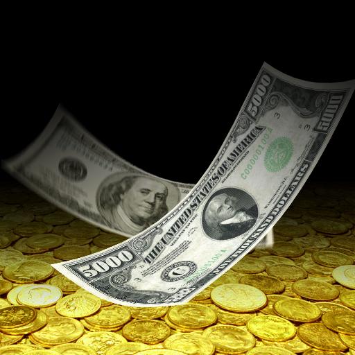 Falling Money 3D Live Wallpaper أيقونة