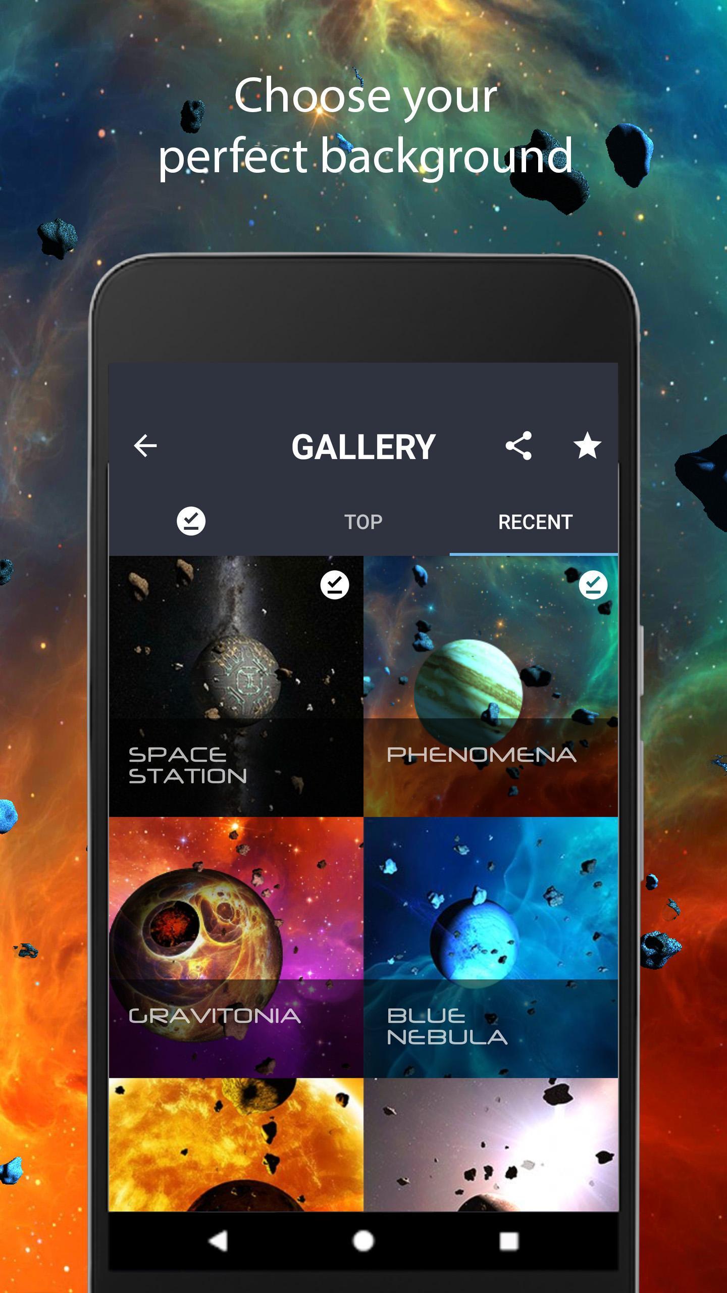 Asteroids 3D live wallpaper 4 تصوير الشاشة