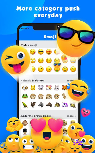 New Emoji 2020 - Wallpaper&GIF&Sticker for FREE 1 تصوير الشاشة