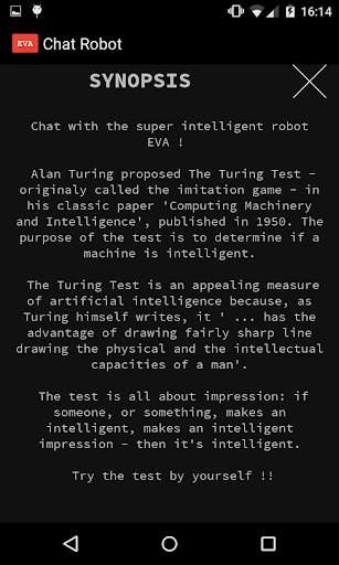 روبوت المحادثة EVA screenshot 6