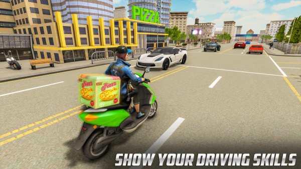 Scooty Bike Pizza Delivery Girl Simulator screenshot 2