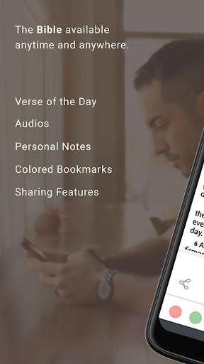 Bible Offline App Free   Audio, KJV, Daily Verse скриншот 1
