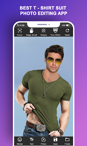 Man T-Shirt Suit Photo Editor screenshot 5