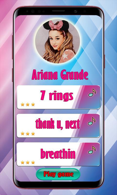 Ariana Grande Piano game 1 تصوير الشاشة