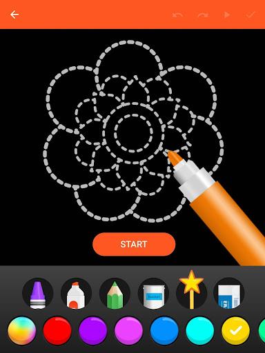 Learn To Draw Glow Flower скриншот 10