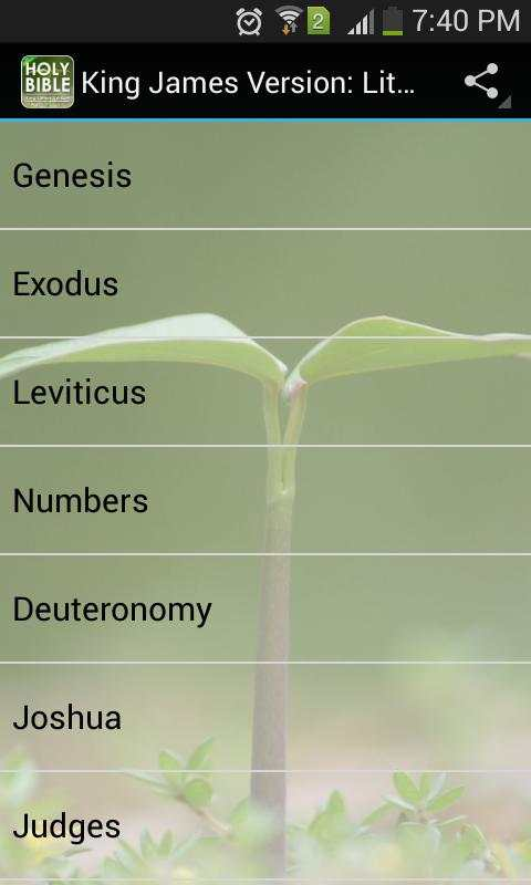 KJV Bible Free: Lite Version screenshot 1