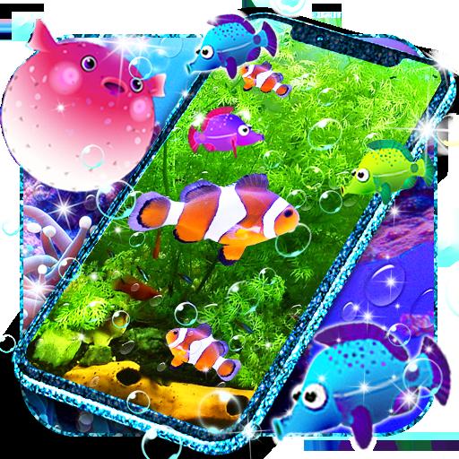 الأسماك خلفية حية أيقونة