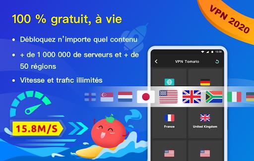 Free VPN Tomato | Un VPN gratuit ultra rapide screenshot 1