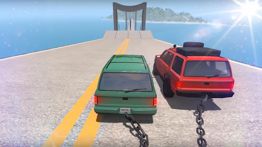 Chained Cars Against Ramp 3D screenshot 1