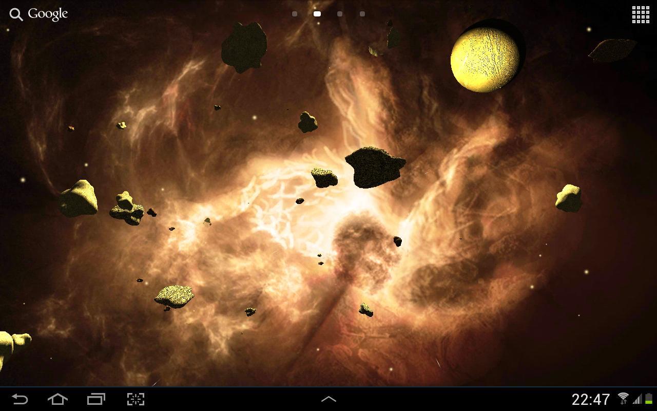 Asteroids 3D live wallpaper 13 تصوير الشاشة
