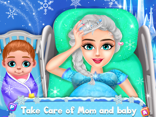 Ice Princess Pregnant Mom and Baby Care Games screenshot 1